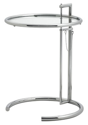 Table d 39 appoint e 1027 r dition 1927 hauteur r glable for Beistelltisch klassiker