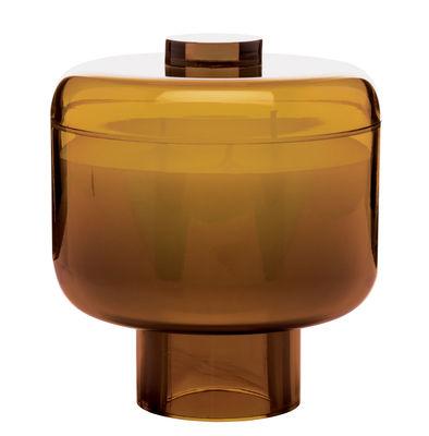 Bougie parfumée Nikko / Kartell Fragrances - H 14 cm - Kartell ambre en matière plastique