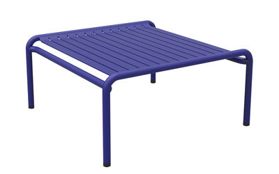 Möbel - Couchtische - Week-end Couchtisch / 69 x 60 cm - Aluminium - Petite Friture - Blau - Aluminium, thermolackiert und expoxidbeschichtet