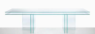 Mobilier - Tables - Table Verglas / 250 x 90 cm - Glas Italia - Transparent / 250 x 90 cm - Verre