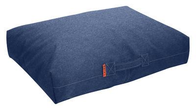 Mobilier - Poufs - Coussin de sol Felix / 80 x 56 cm - Trimm Copenhagen - Bleu jean - Microbilles EPS, Toile Sunbrella®
