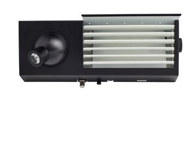 Applique Biny LED Droite / Réédition 1957 - L 27 cm - DCW éditions blanc,noir en métal