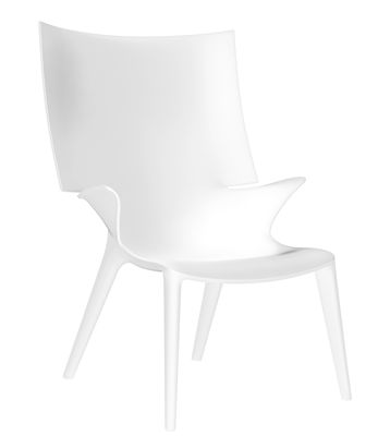 Poltrona Uncle Jim di Kartell - Bianco opaco - Materiale plastico