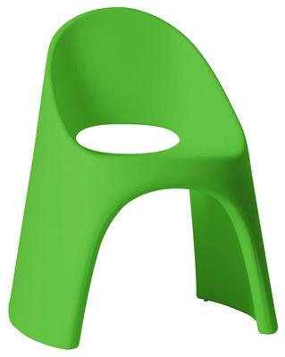 Poltrona impilabile Amélie di Slide - Verde - Materiale plastico