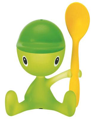Coquetier Cico A di Alessi vert en matière plastique