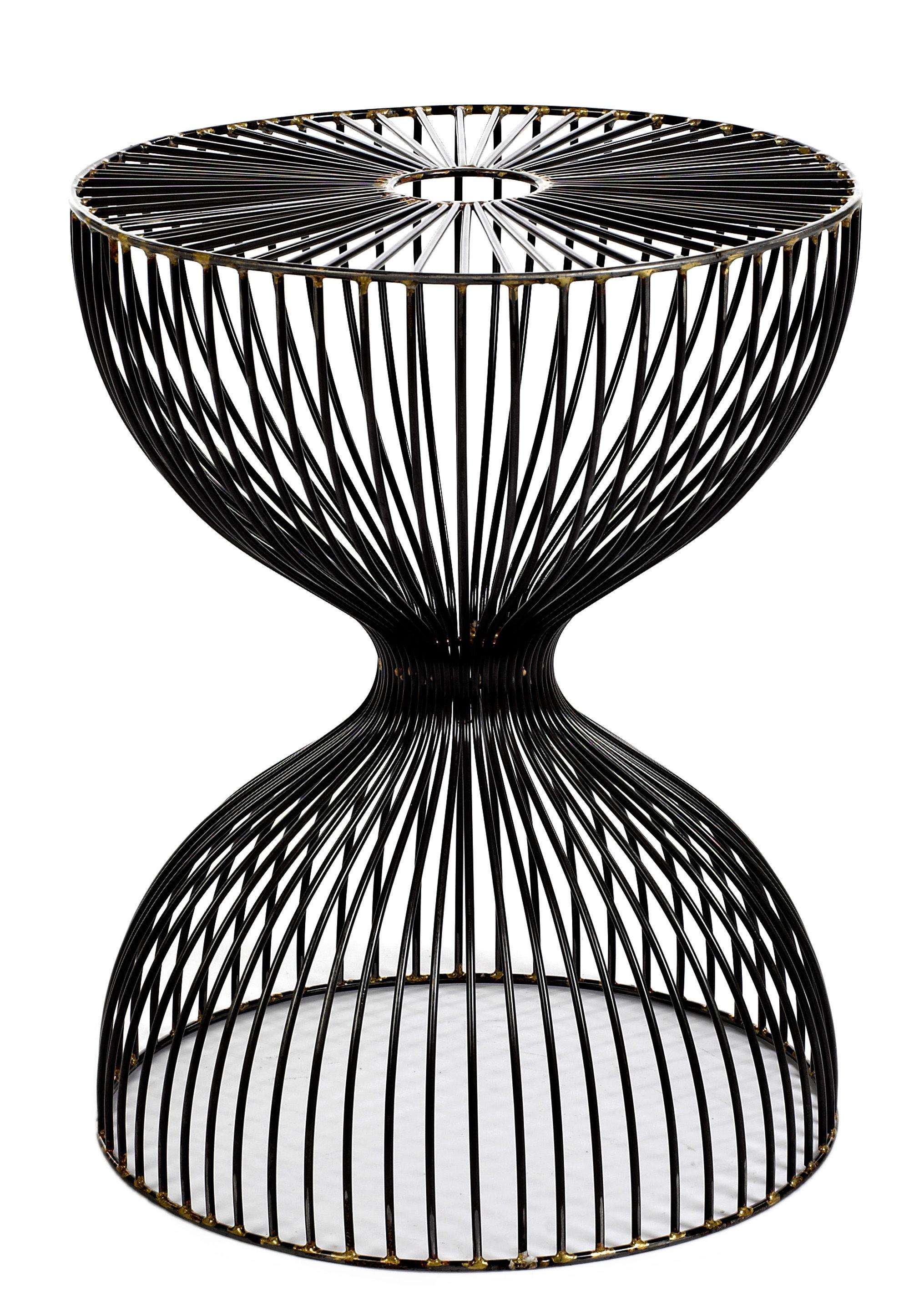 wire dumbbel 35 x h 45 cm pols potten hocker. Black Bedroom Furniture Sets. Home Design Ideas