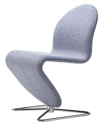 Mobilier - Chaises, fauteuils de salle à manger - Chaise rembourrée 123 / Tissu by Raf Simons - Verpan - Gris Noise / by Raf Simons - Acier chromé, Mousse, Tissu Kvadrat
