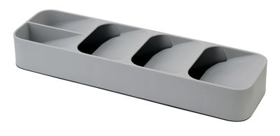 Range-couverts Compact / 5 compartiments - Pour tiroir - Joseph Joseph gris en matière plastique