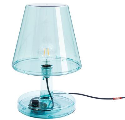 Lampe de table Trans-parents / Ø 32 x H 50 cm - Fatboy bleu transparent en matière plastique
