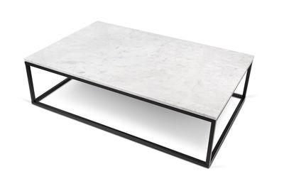 table basse marble marbre 120 x 75 cm marbre blanc pied noir pop up home. Black Bedroom Furniture Sets. Home Design Ideas
