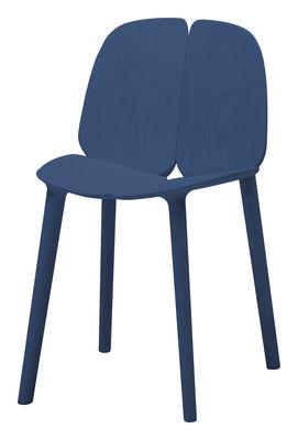 Chaise Osso / Frêne teinté - Mattiazzi bleu en bois