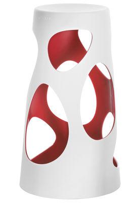 Jardin - Tables de jardin - Pied de table Liberty H 74 cm - MyYour - Extérieur blanc / Interieur rouge - Poleasy