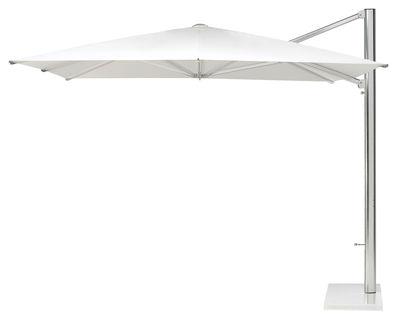 Jardin - Parasols - Parasol déporté Shade / 320 x 300 cm - Emu - Toile blanche / Mât alu / Base blanche - Métal, Toile acrylique