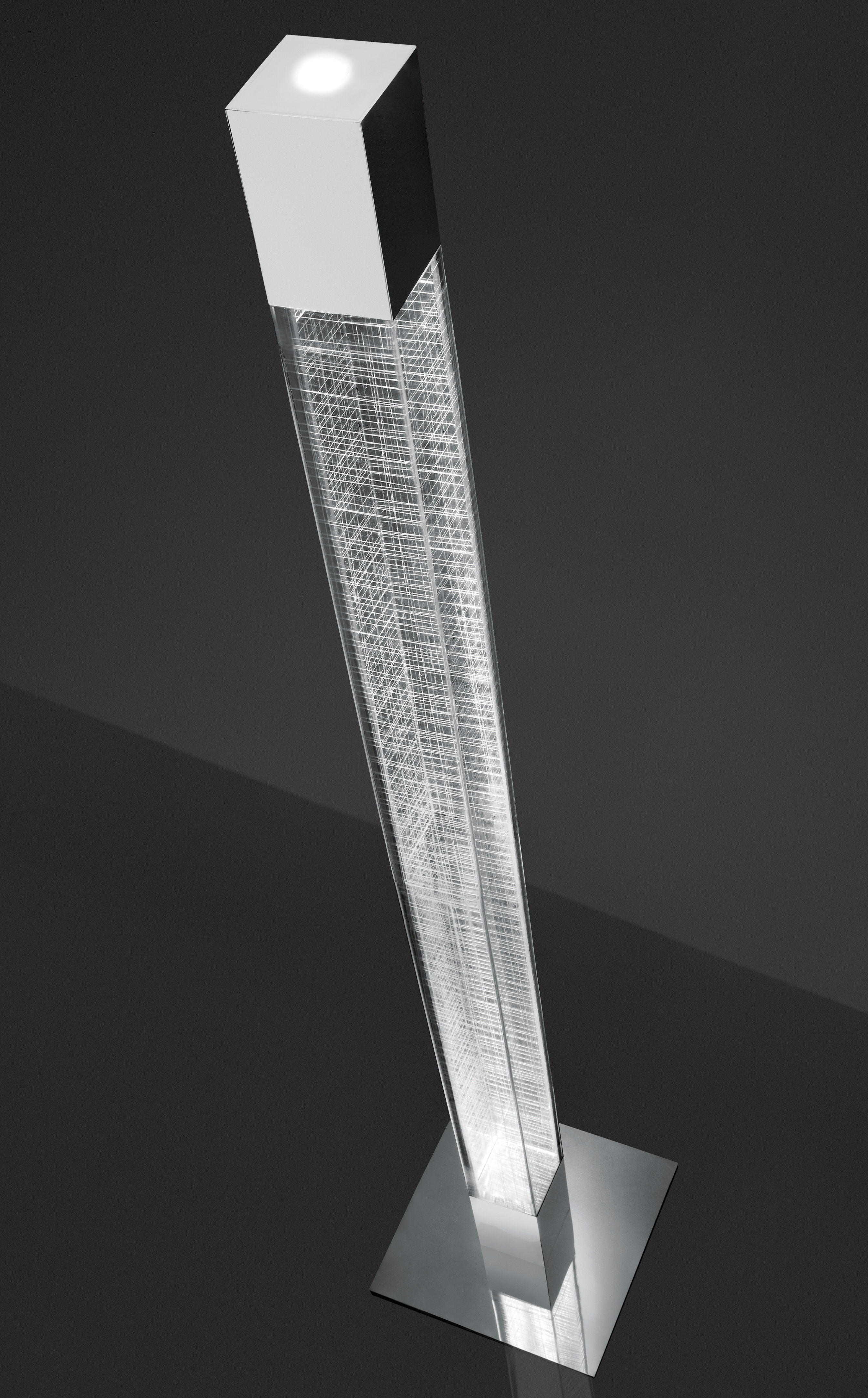 lampadaire mimesi led h 180 cm transparent quadrillage blanc artemide. Black Bedroom Furniture Sets. Home Design Ideas