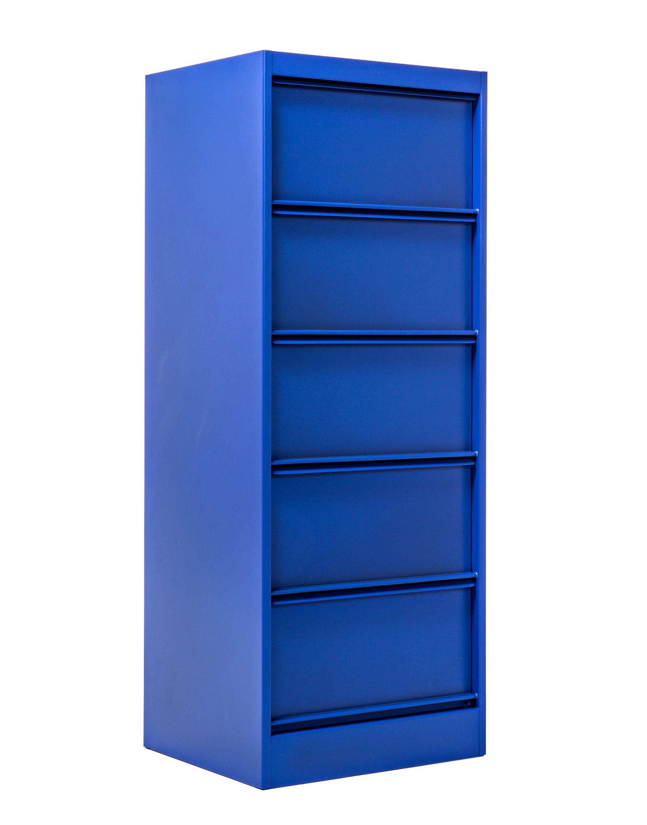rangement classeur clapets cc5 5 clapets le corbusier bleu outremer 59 tolix. Black Bedroom Furniture Sets. Home Design Ideas