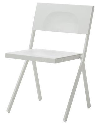Mobilier - Chaises, fauteuils de salle à manger - Chaise empilable Mia / Métal - Emu - Blanc - Acier, Aluminium