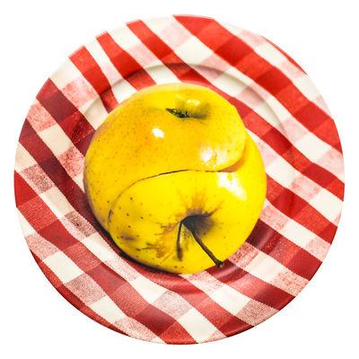 Assiette Toiletpaper - Pomme / Porcelaine - Seletti multicolore en céramique