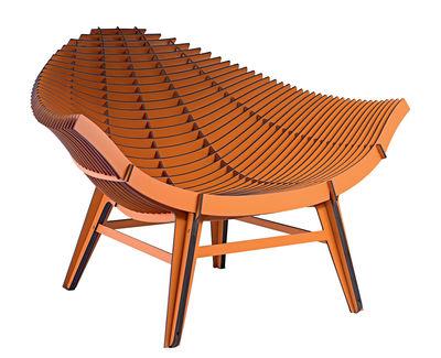 Manta Lounge Sessel / Kompaktlaminat - für Haus und Garten - Ibride - Camel