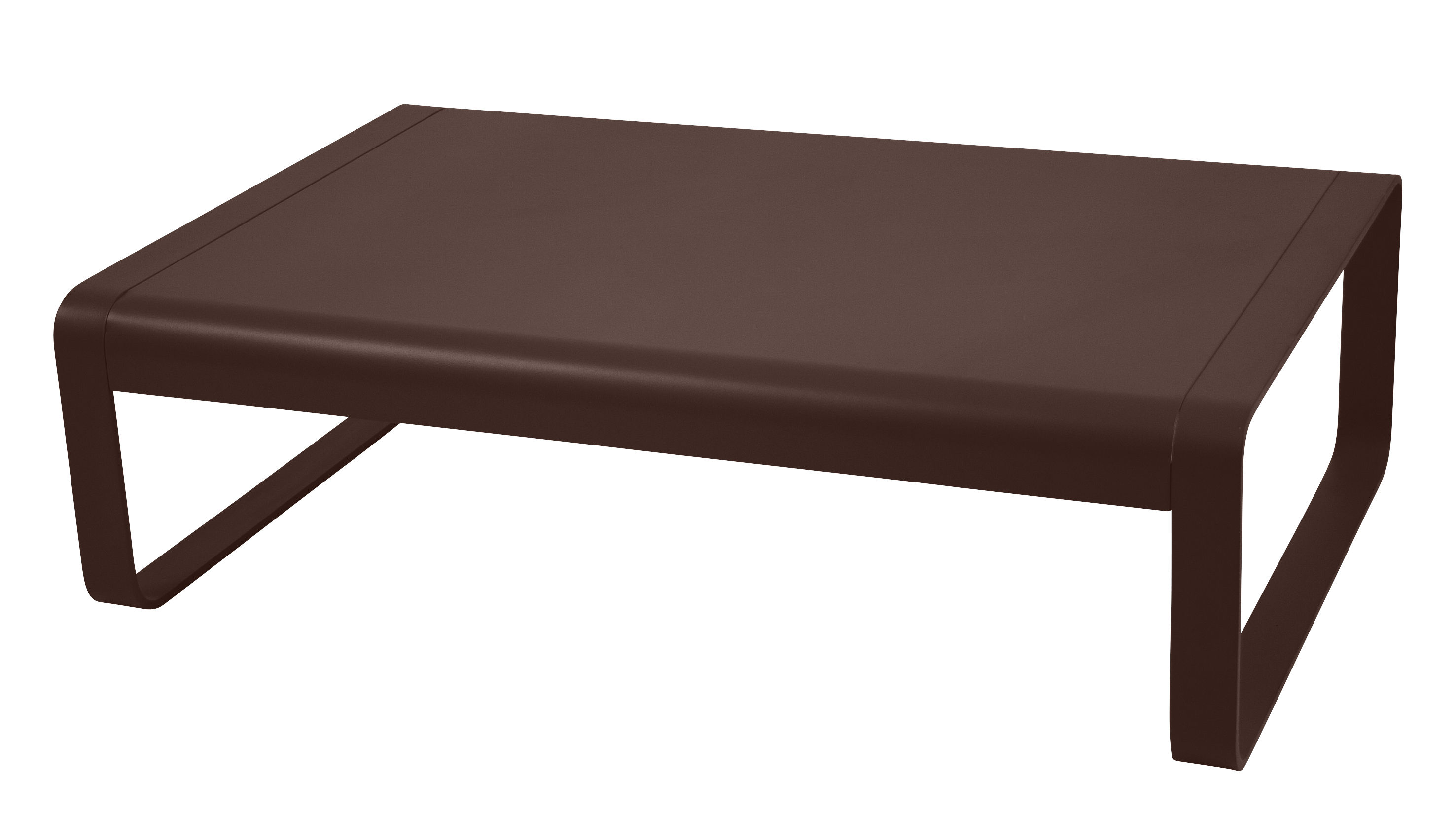 table basse bellevie aluminium 103 x 75 cm rouille fermob made in design. Black Bedroom Furniture Sets. Home Design Ideas