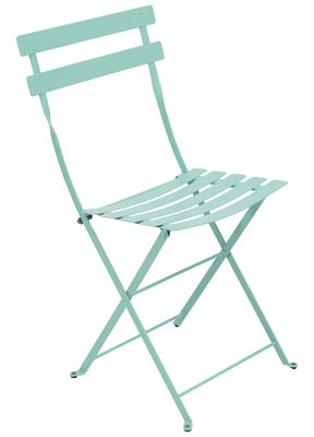bistro folding chair metal laguna blue by fermob made in design uk
