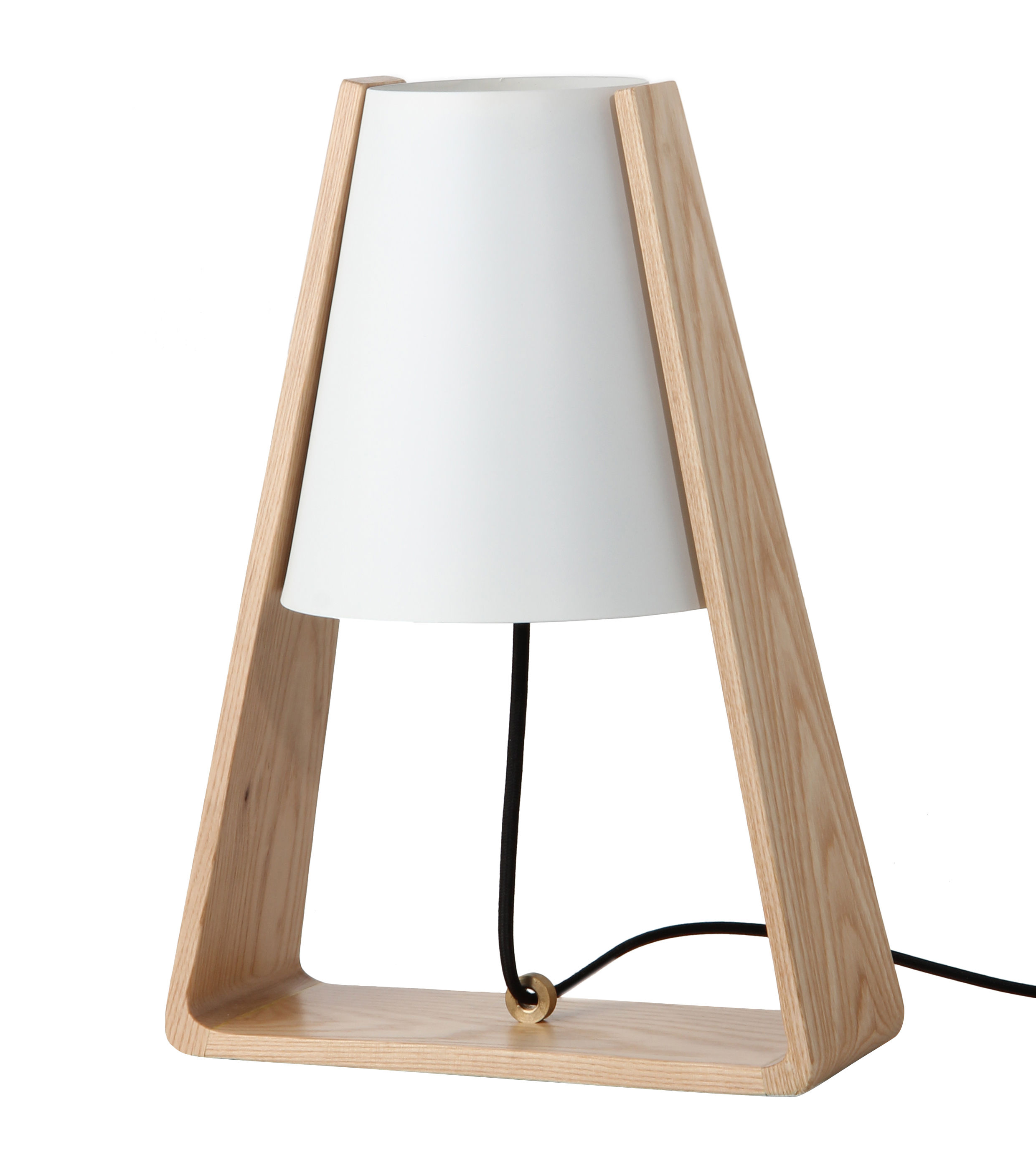 lampe de table bend bois m tal bois blanc frandsen. Black Bedroom Furniture Sets. Home Design Ideas