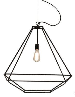 Luminaire - Suspensions - Suspension Con.Tradition Medium / 60 x 60 x H 66 cm - Opinion Ciatti - Noir - Métal