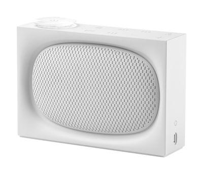 Accessoires - Réveils et radios - Radio sans fil Ona / Enceinte bluetooth - Recharge USB - Lexon - Blanc - ABS
