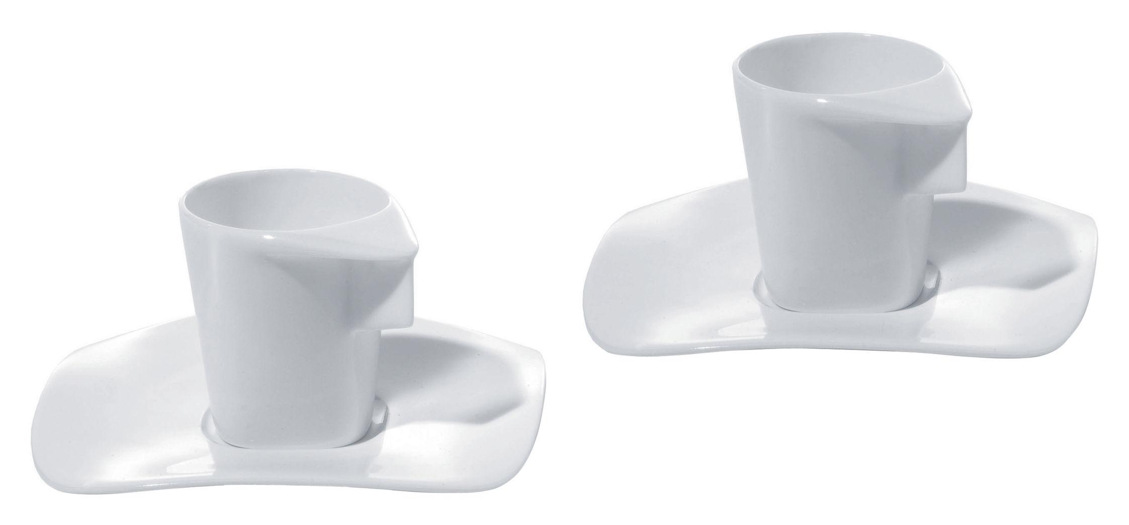 Scopri tazzina da caff express set 2 tazze 2 piattini for Tazzine caffe moderne