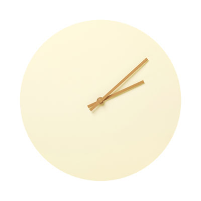 Déco - Horloges  - Horloge murale Steel / Ø 30 cm - Menu - Jaune - Acier laqué époxy
