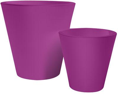 Foto Vaso per fiori New pot - h 70 cm di Serralunga - Fucsia - Materiale plastico