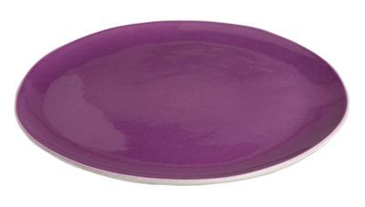 Assiette Bazelaire Ø 26cm - Faïence émaillée - Sentou Edition violet en céramique