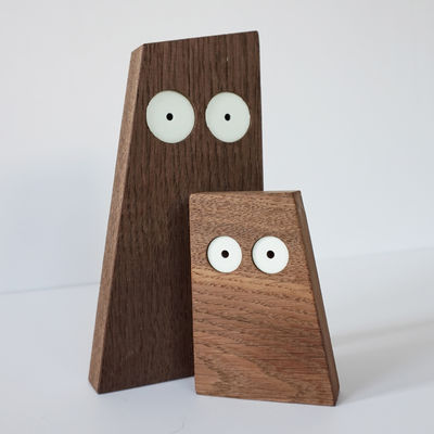 Déco - Pour les enfants - Décoration Les Ducs-s / Lot de 2 figurines - Big Game - Iconic Serie - Designerbox - Bois naturel - Chêne massif