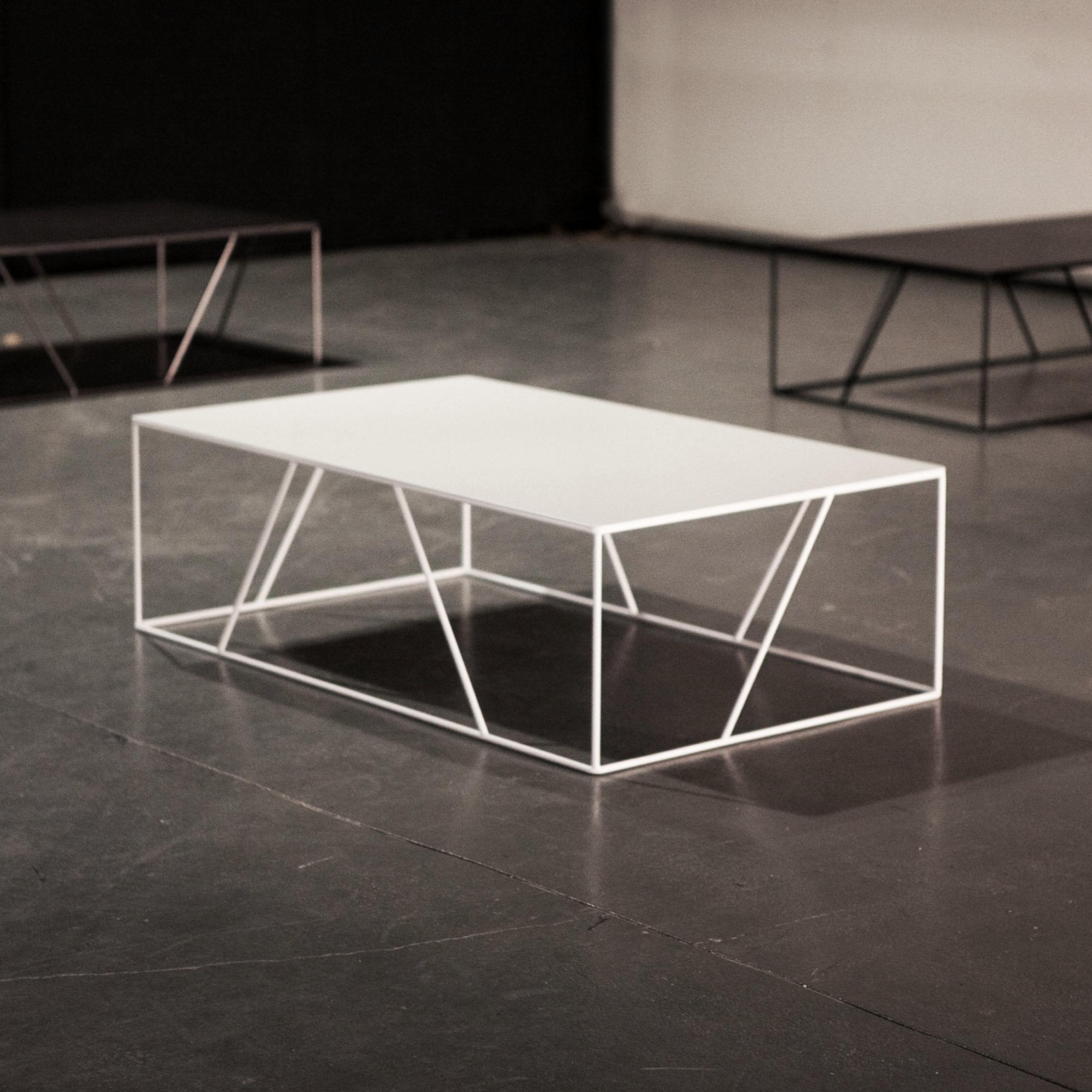 Coffee table 115 x 70 cm matt white by vidame cr ation for Coffee table 70 x 70