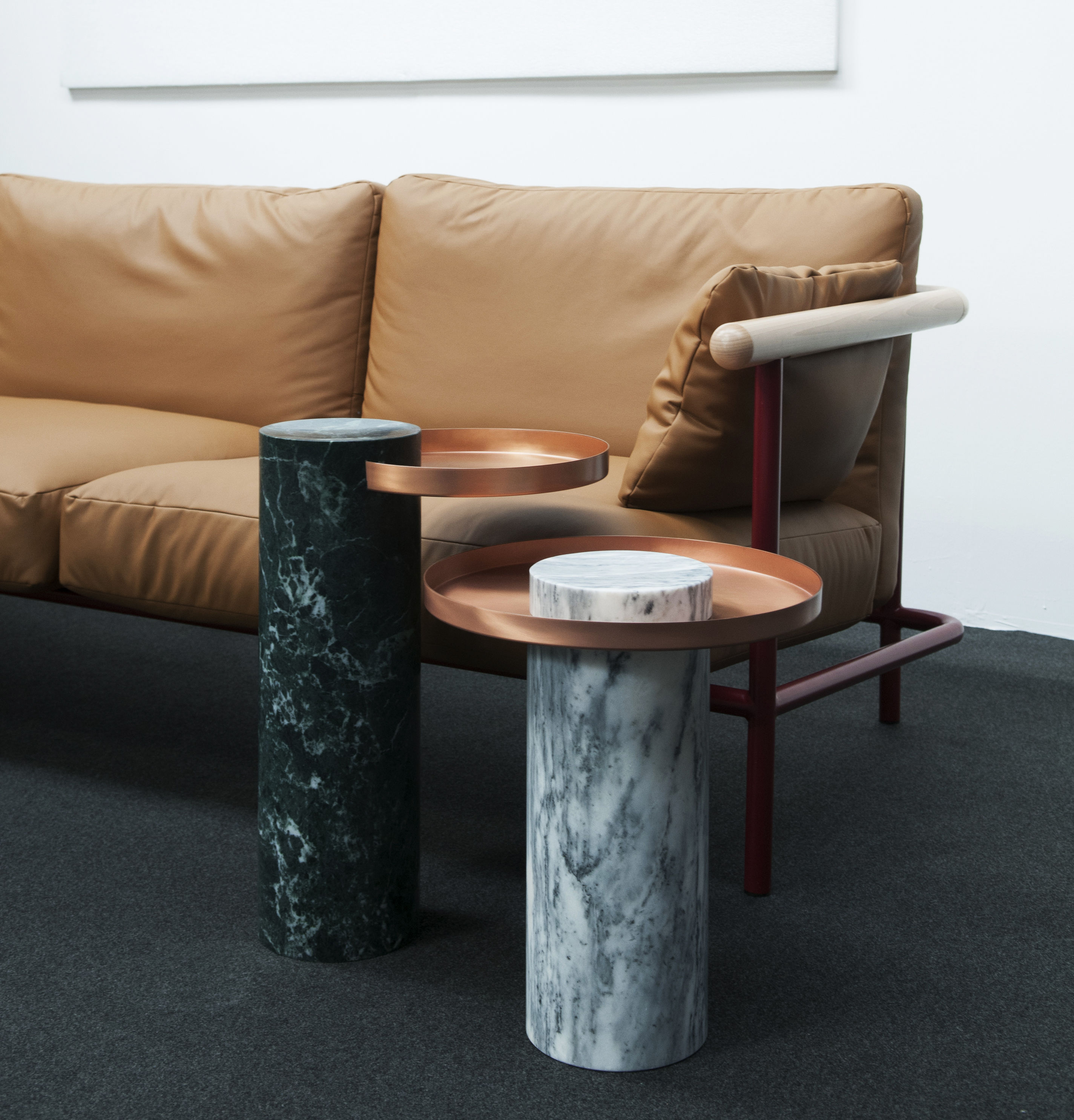 Yellow Marble Coffee Table: Ø 72 X H 34 Cm