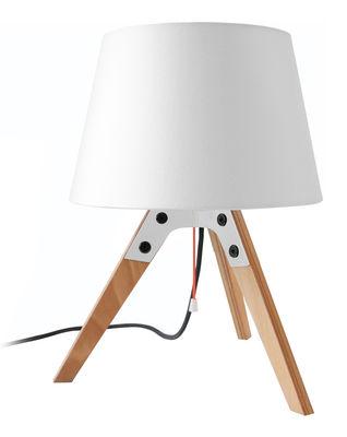 Foto Lampada da tavolo Tischleuchte n2 di Artificial - Pop Corn - Bianco,Legno chiaro - Metallo