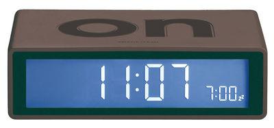 Accessoires - Réveils et radios - Réveil Flip LCD - Lexon - Gris foncé - ABS, Gomme