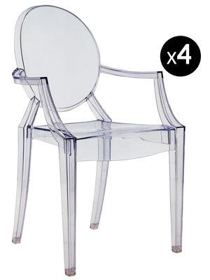 Louis Ghost Stapelbarer Sessel Set mit 4 Sessel - Kartell