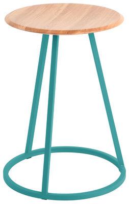 Foto Sgabello Gustave - / H 45 cm di Hartô - Blu d'acqua - Metallo