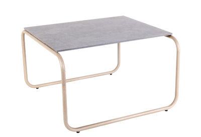 Table basse Yoso Small / 54 x 54 x H 35 cm - Ciment - XL Boom gris,quartz en métal