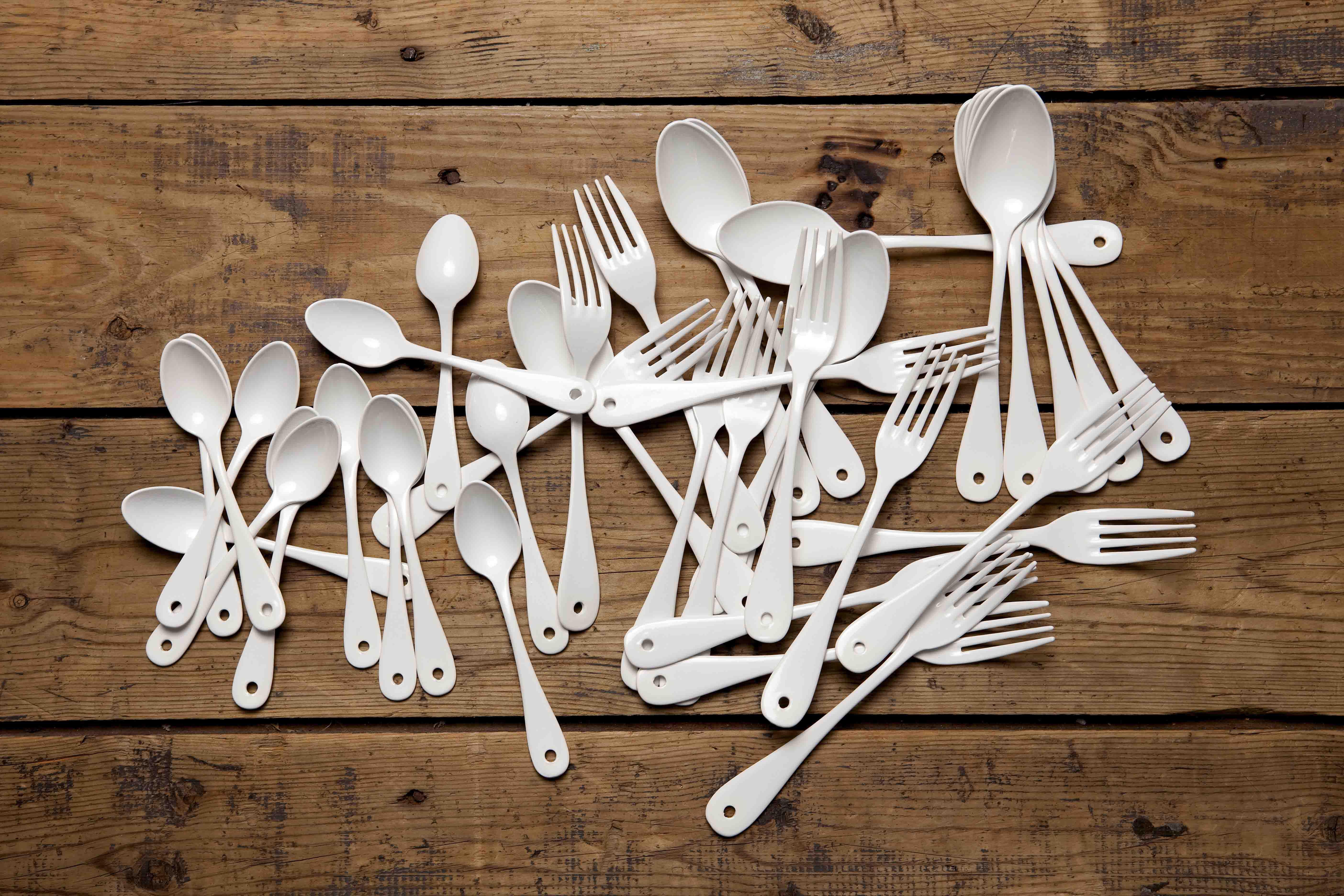 Fourchette basic blanc variopinte - La table libanaise la fourchette ...