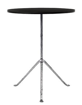 Table Officina Outdoor / Ø 55 cm - Plateau acier - Magis noir,métal galvanisé en métal