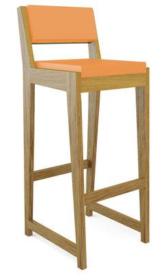 Foto Sedia da bar Room 26 - Con schienale di Quinze & Milan - Arancione,Rovere - Materiale plastico