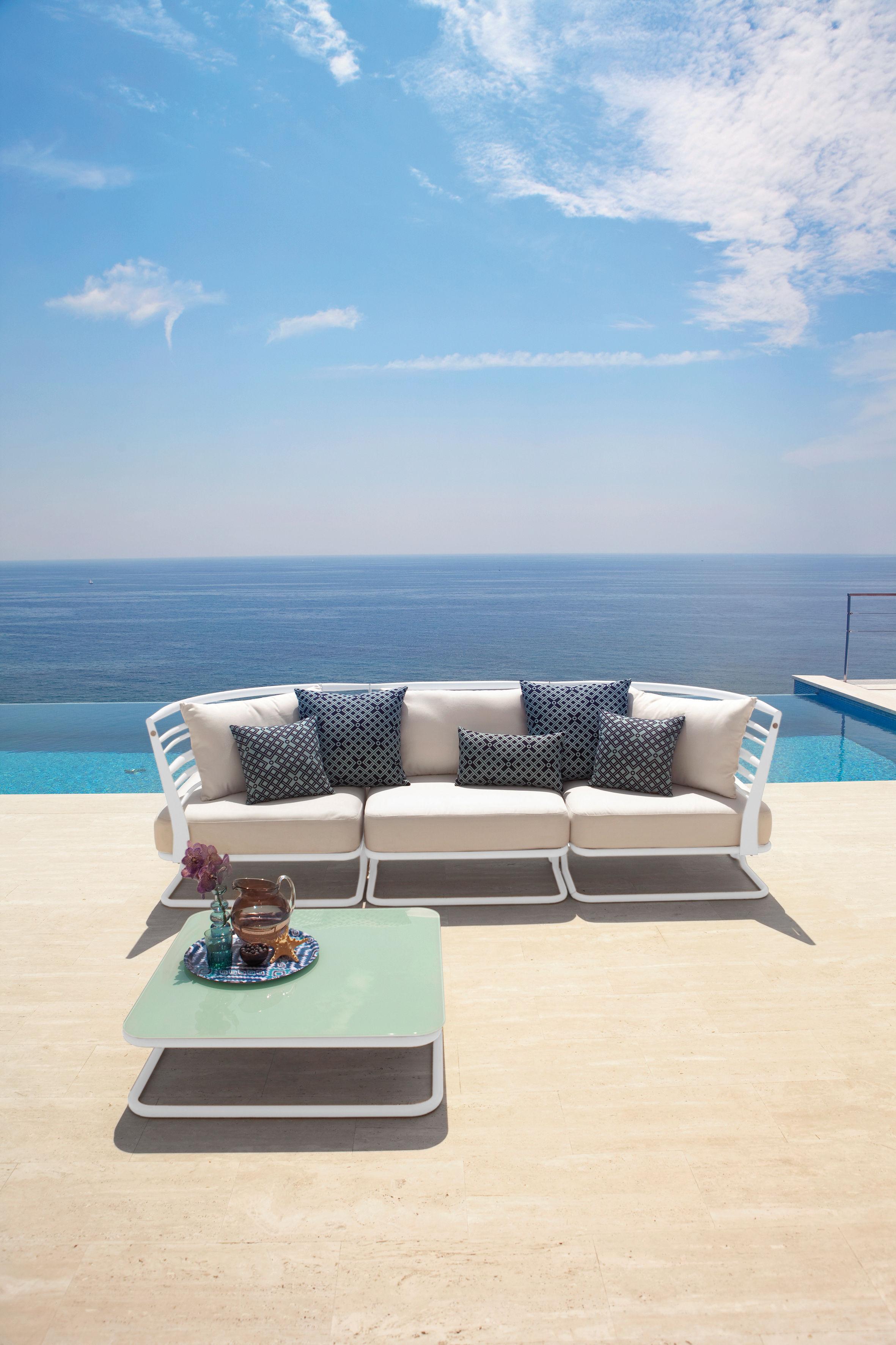 Soft ware labyrinthe outdoor kissen f r den au eneinsatz 55 x 55 cm 55 x 55 cm blau - Outdoor kissen fur loungemobel ...