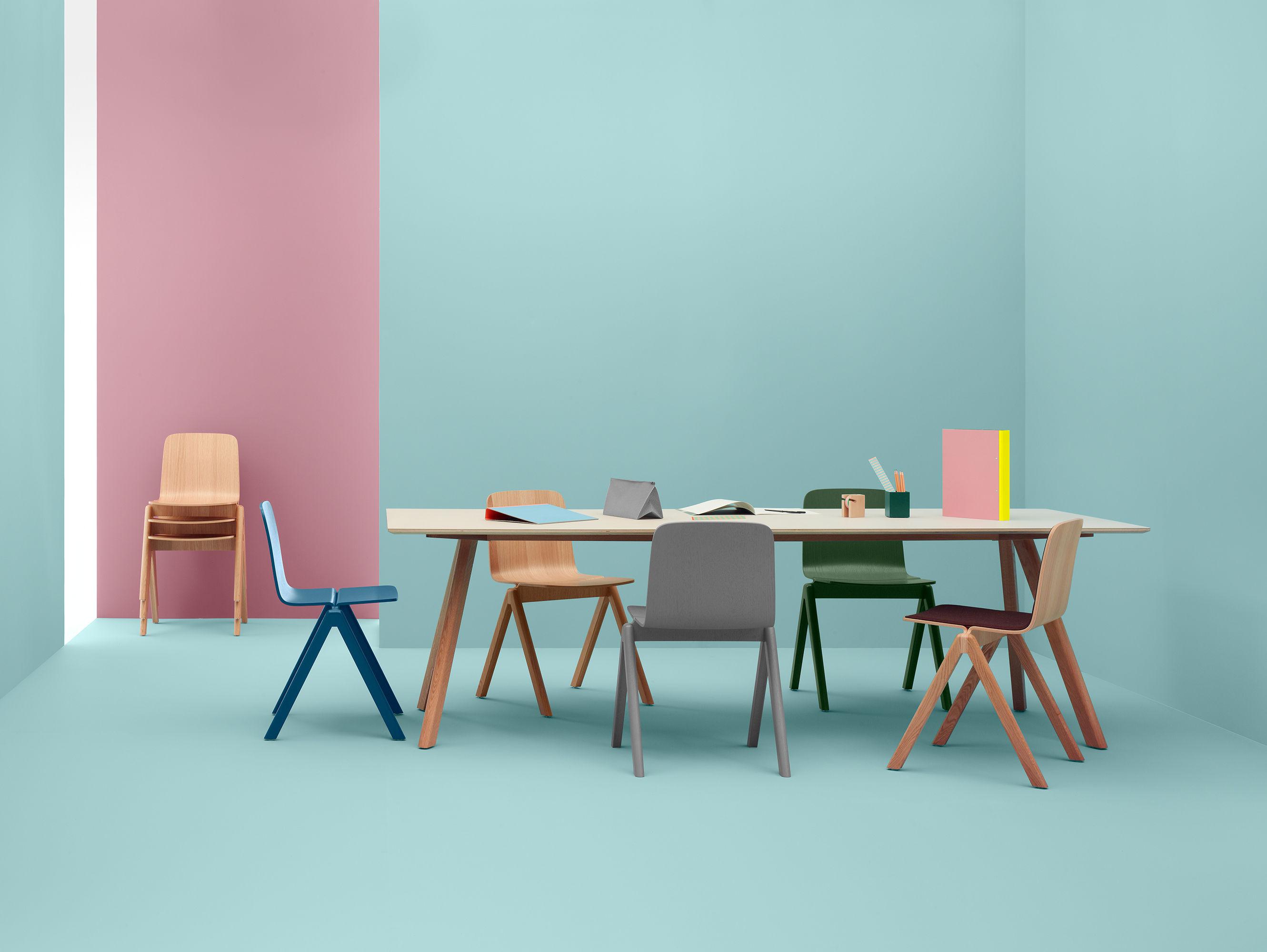 Table copenhague n 30 250 x 90 cm blanc pied ch ne hay - Tavolo scandinavo ...