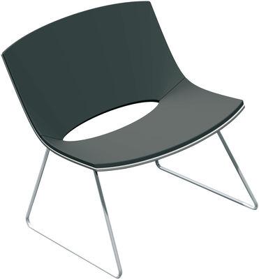 Oh! Lounge Sessel Kufengestell - Chromgestell - Enea - Schwarz,Verchromt