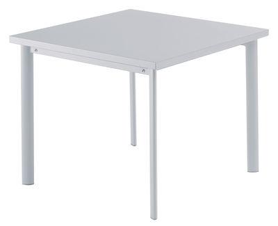 Star Tisch / 90 x 90 cm - Emu - Aluminium, glänzend