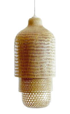 Luminaire - Suspensions - Suspension Hanoi / Ø 36 X H 75 cm - Pop Corn - Bambou - Bambou