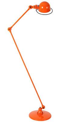 Foto Lampada a stelo Loft - 2 bracci articolati - H max 160 cm di Jieldé - Arancione lucido - Metallo