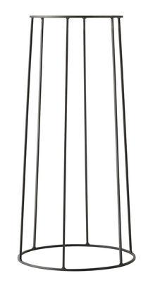 Jardin - Pots et plantes - Support / H 60 cm - Pour pot et lampe à huile Wire - Menu - H 60 cm / Noir - Acier laqué mat