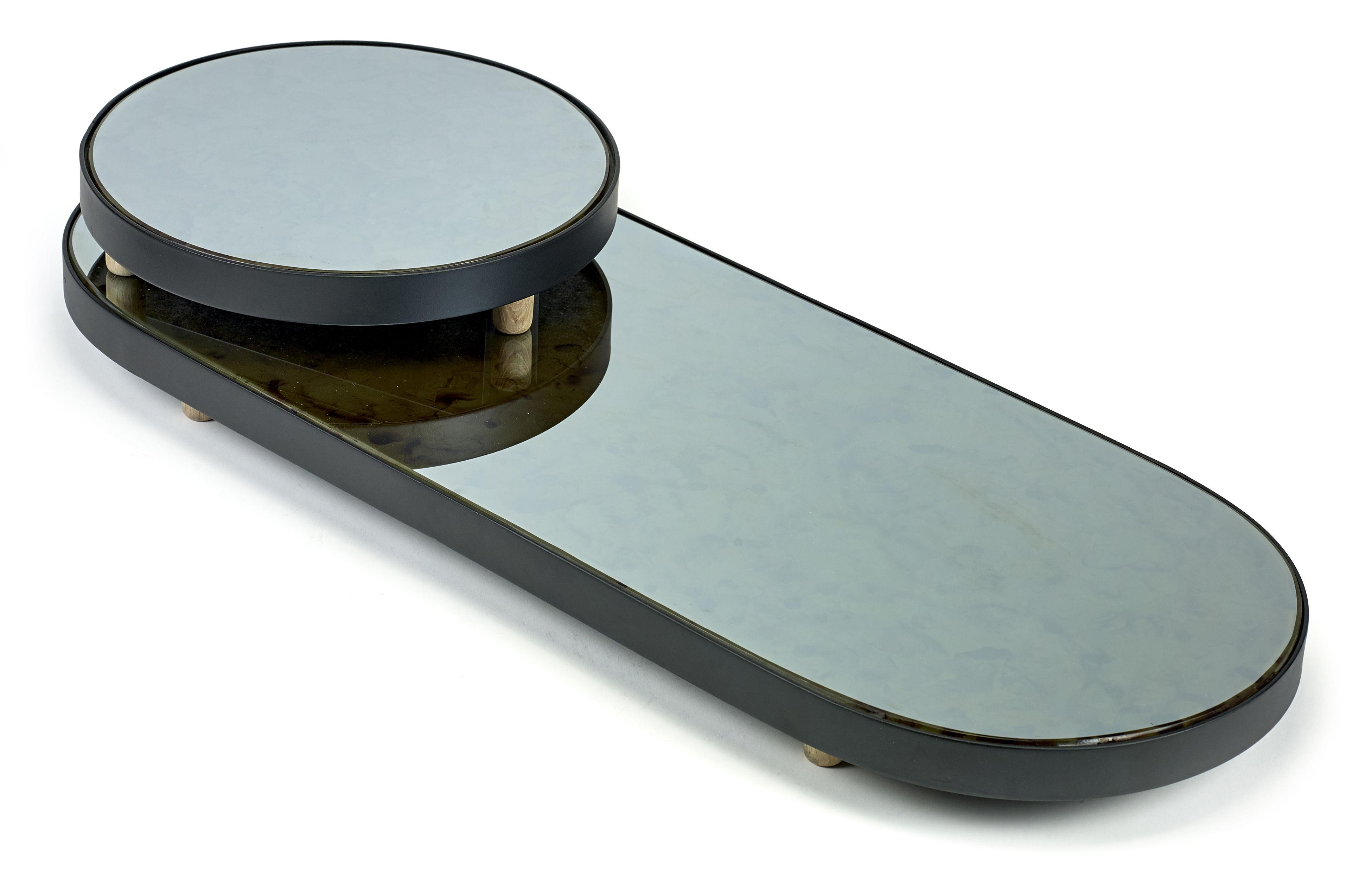 Reflect xl tray oval mirror 80 x 31 cm black mirror for Mirror 80 x 80